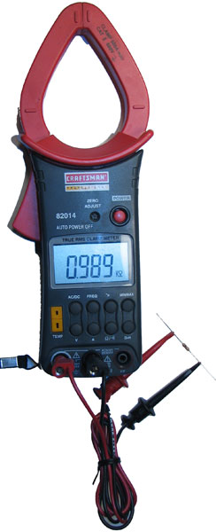Infinity On A Digital Ohmmeter : Ohmmeter reading